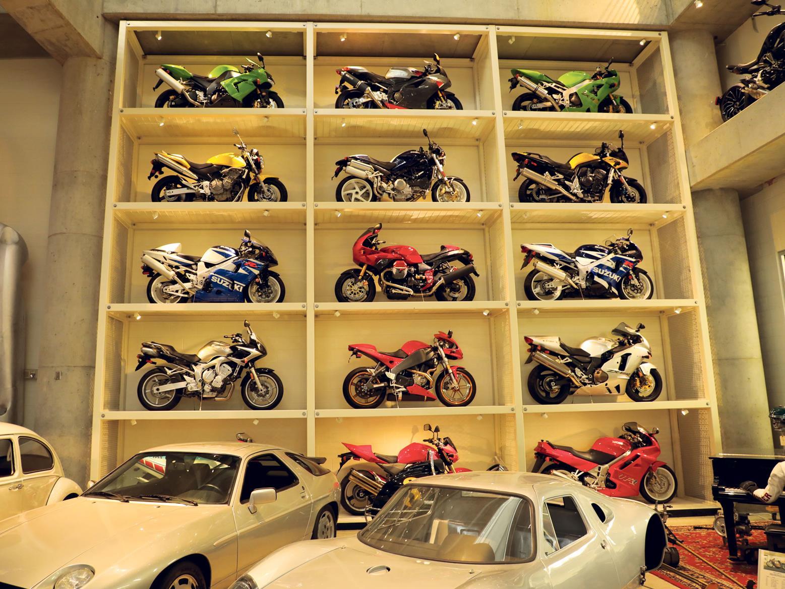 Bikes stored like matchbox toys