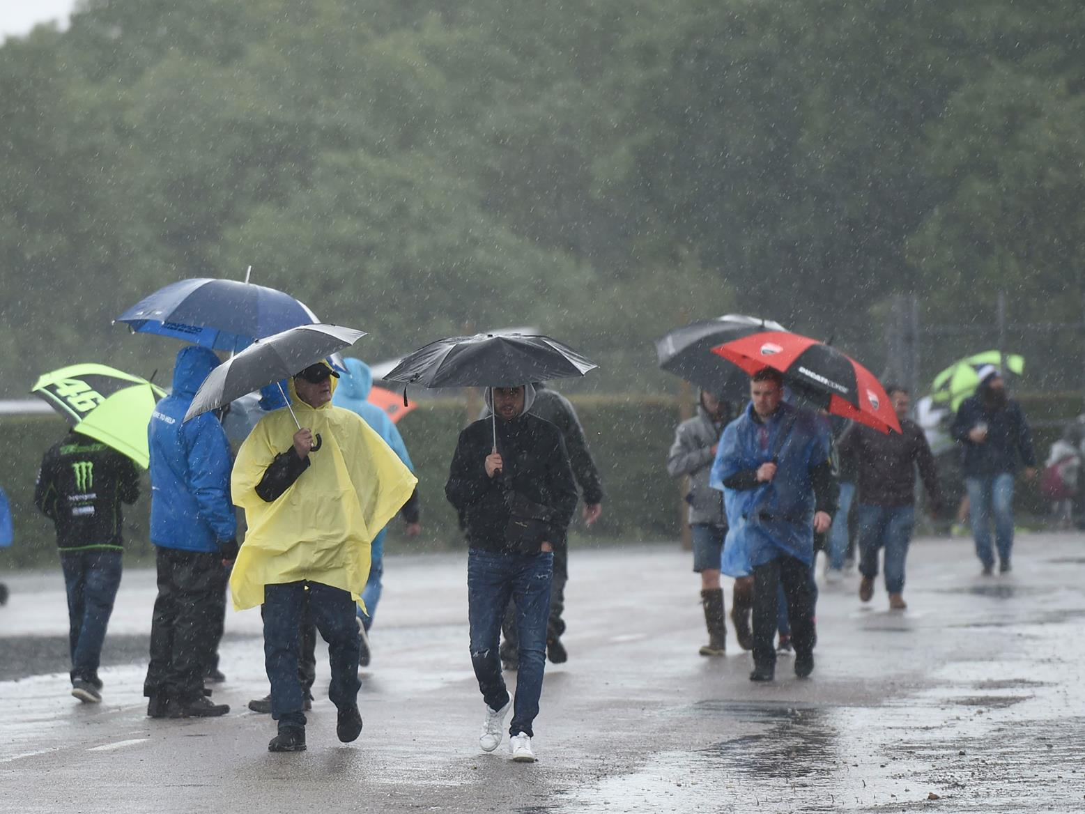 The rain shouldn't stop play at the 2019 British MotoGP at Silverstone