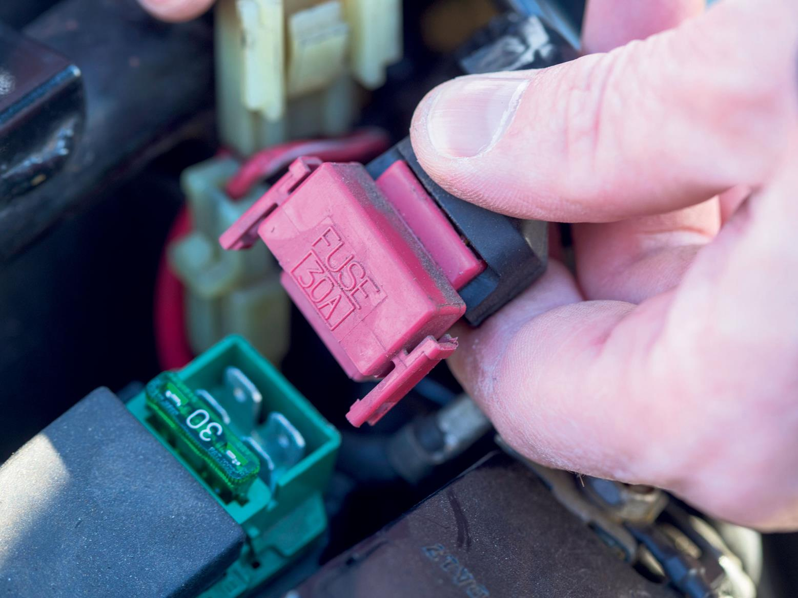 Check the solenoid switch