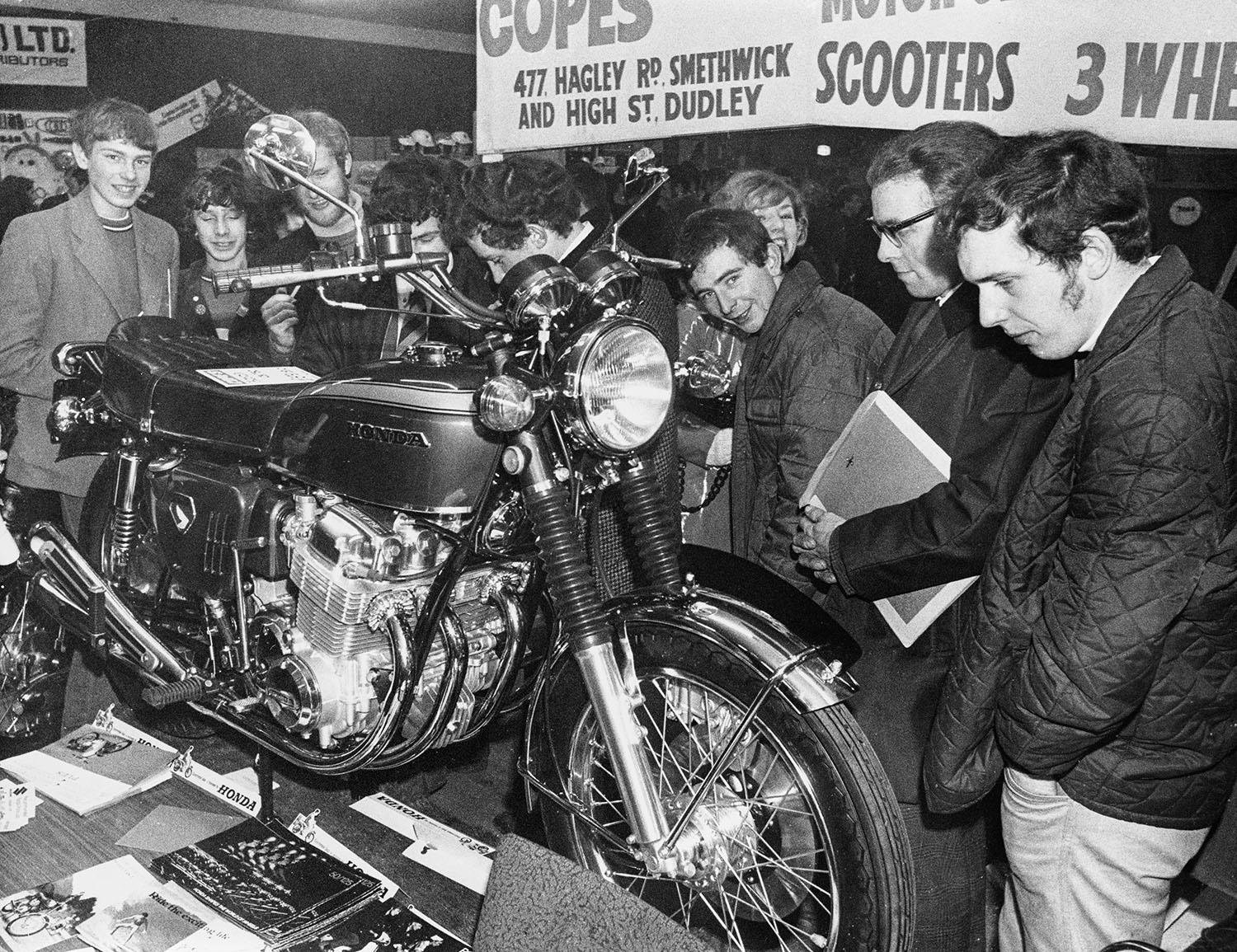 Honda CB750 on display in the Midlands