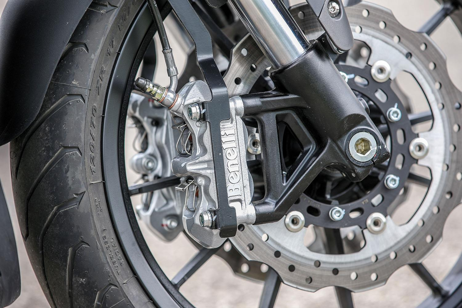 Benelli 502C front brake