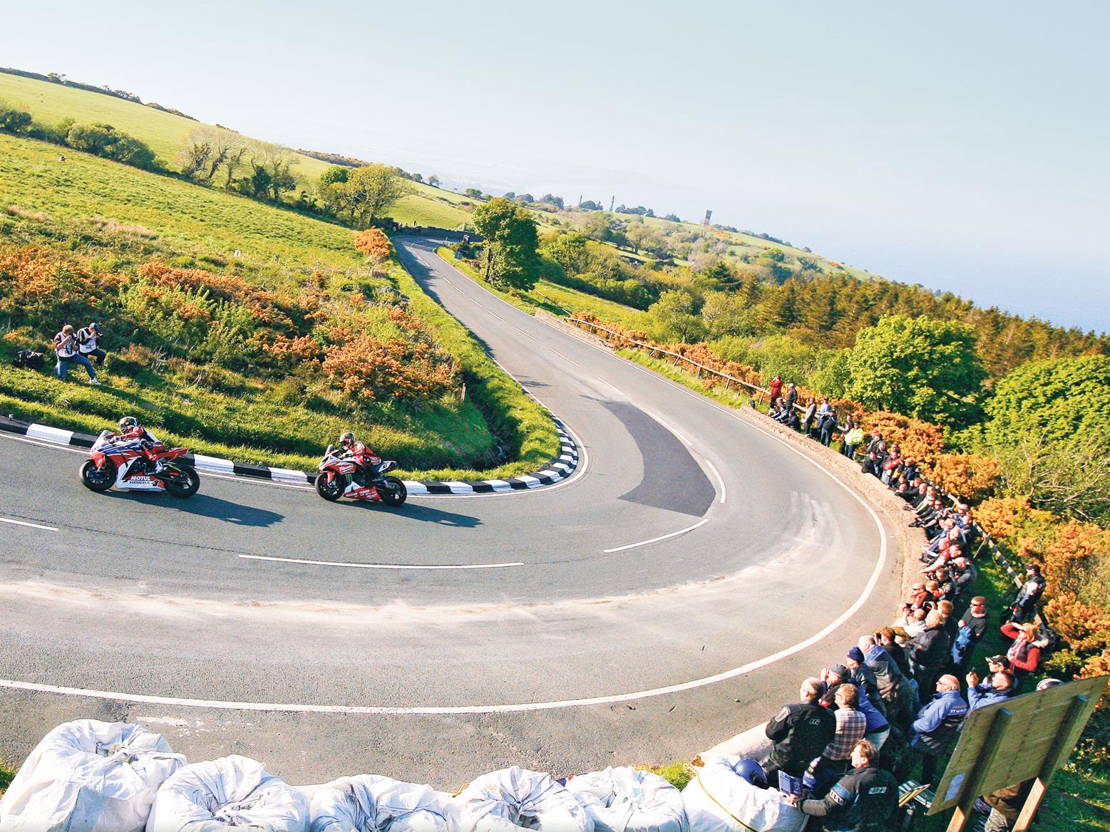 Conor Cummins and John McGuinness at The Gooseneck