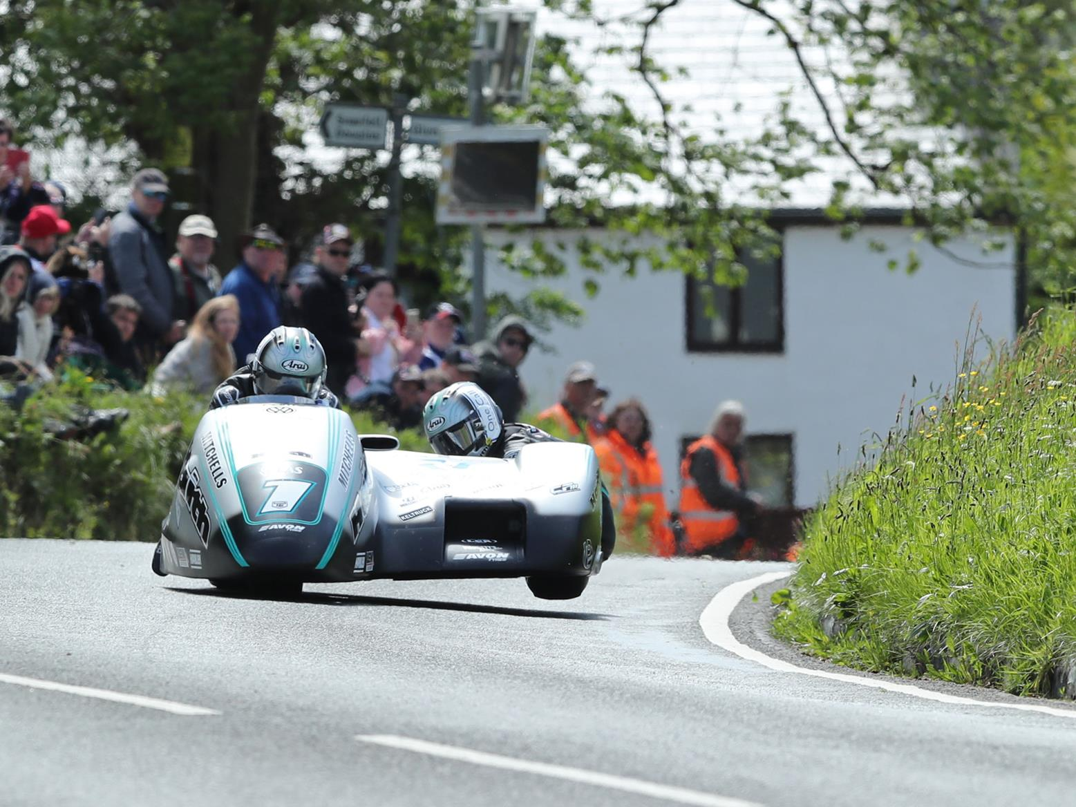 Ben and Tom Birchall in their 2019 sidecar at the TT