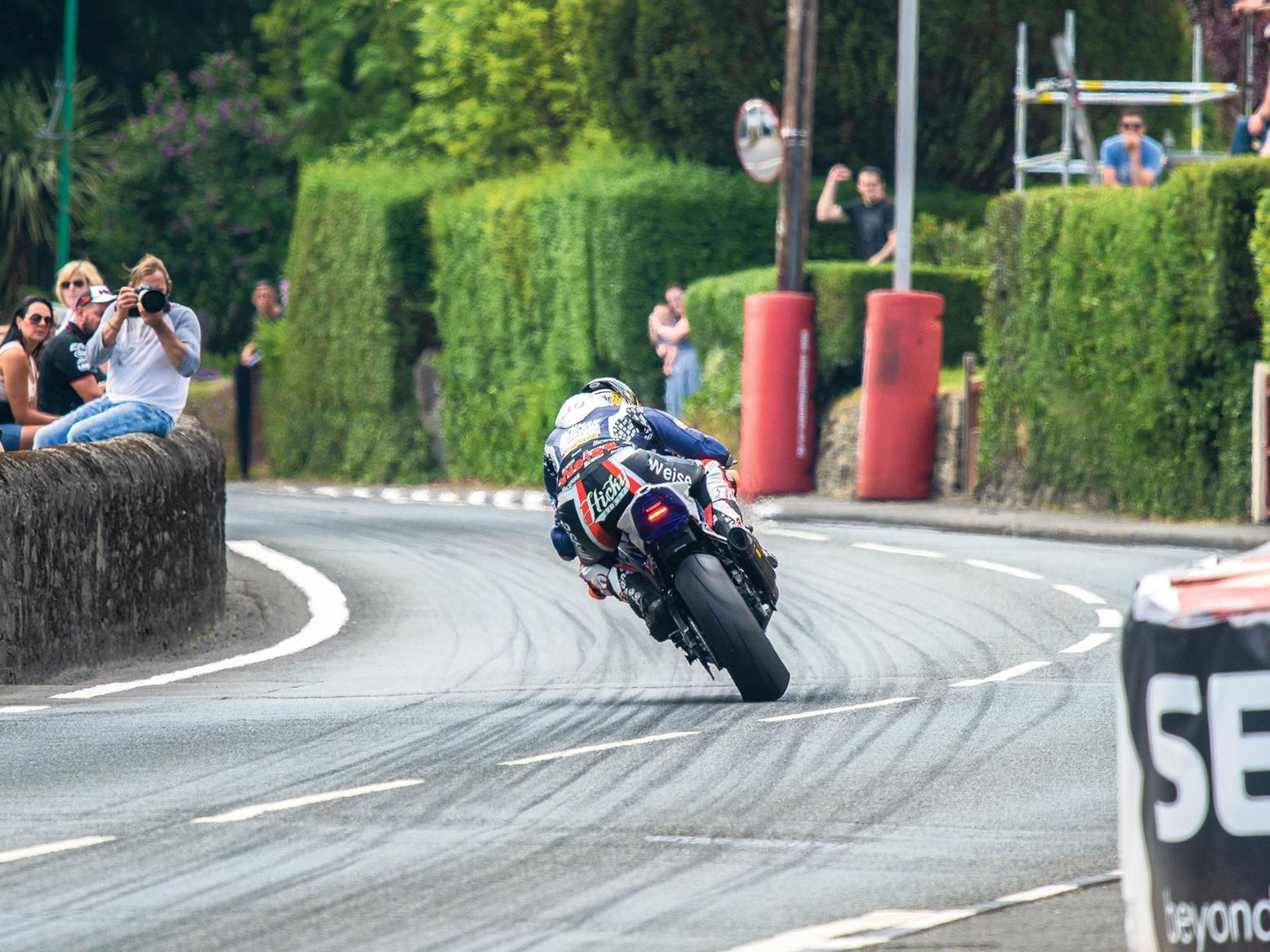 Peter Hickman at the Railway Hotel