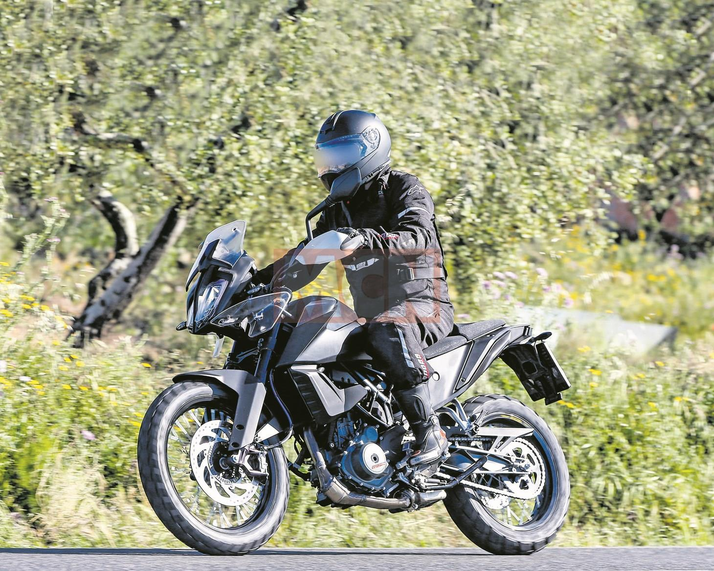 KTM 390 Adventure first spy shot