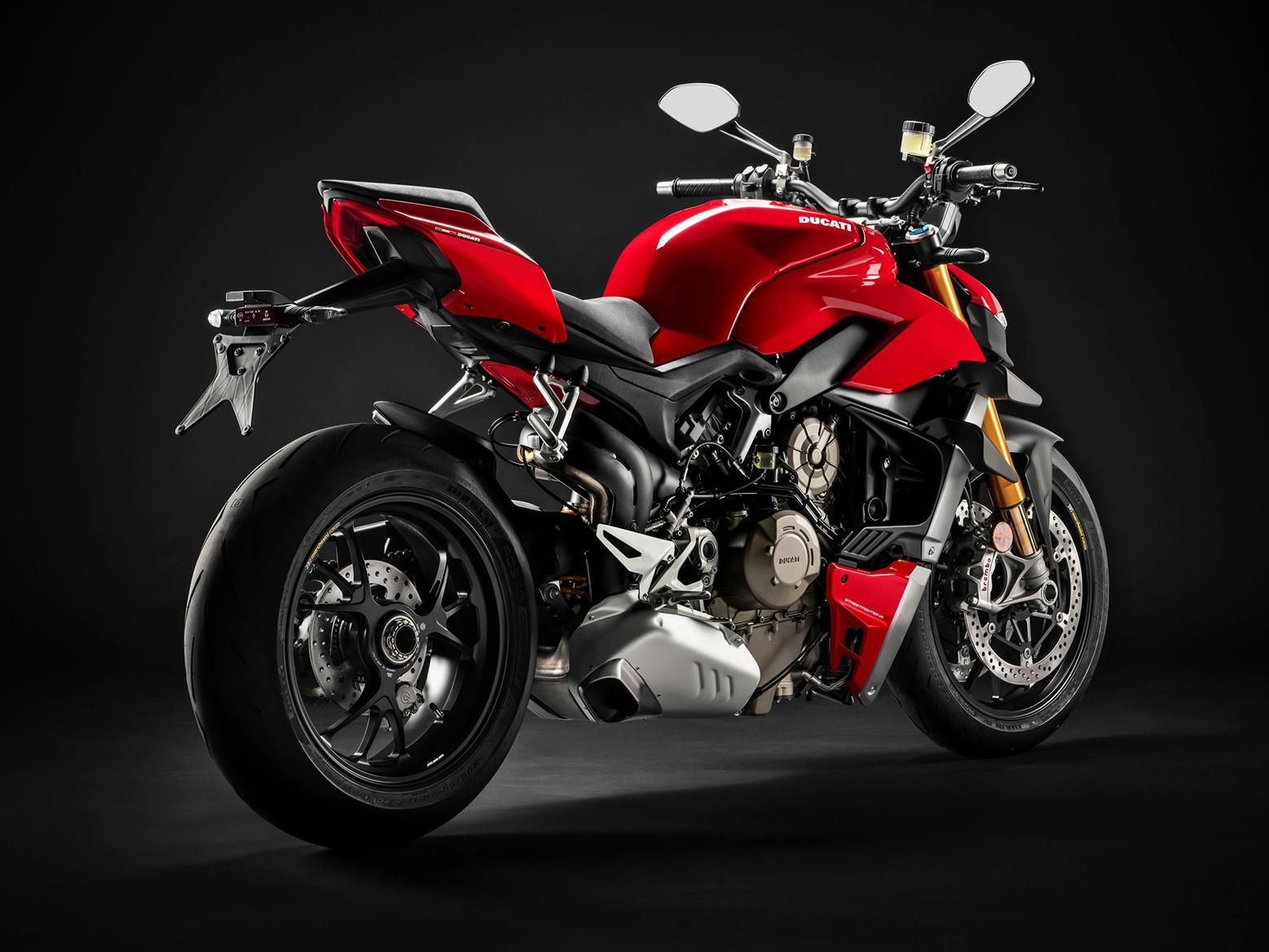 The Ducati Streetfighter V4's rear, including exhaust