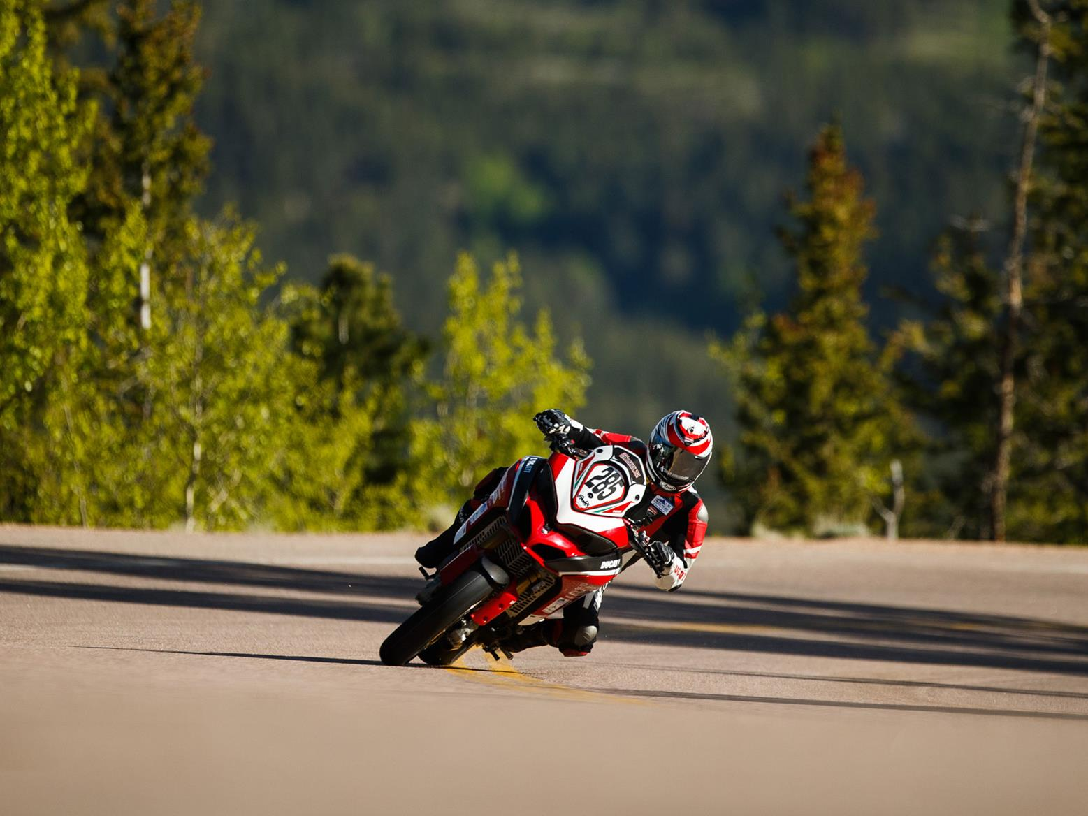 Codie Vahsholtz on the Ducati Multistrada 1260 Pikes Peak