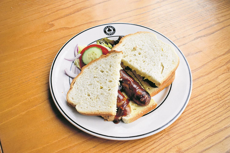 Ace Café sausage sandwich