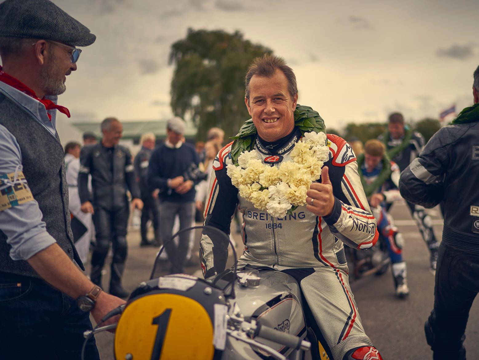 John McGuinness at the Goodwood Revival, picture credit: Nigel Harniman/Goodwood