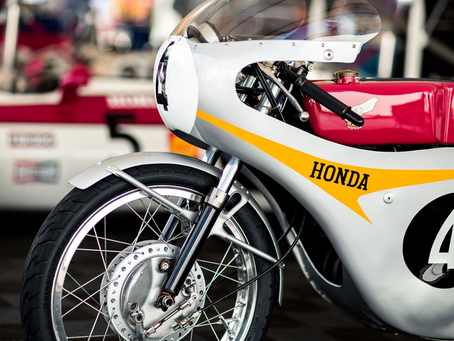 Honda race bike at the Goodwood Festival of Speed. Image credit: Stephanie O' Callaghan/Goodwood