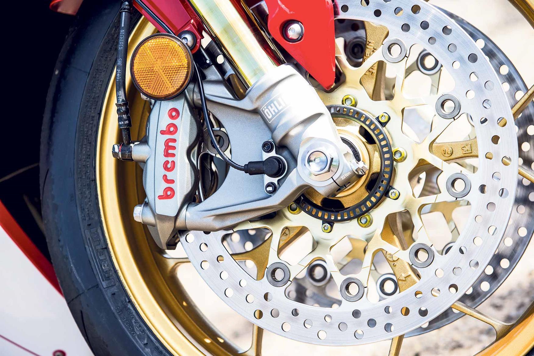 The Honda Fireblade SP front brakes