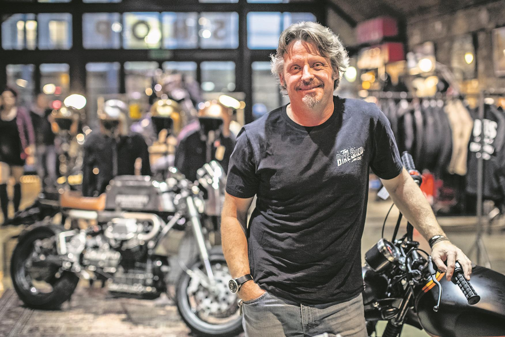 Charley Boorman at the Bike Shed