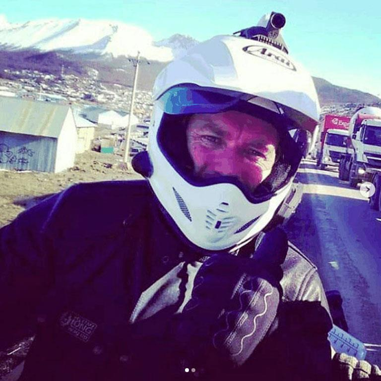 Ewan McGregor poses during the ride