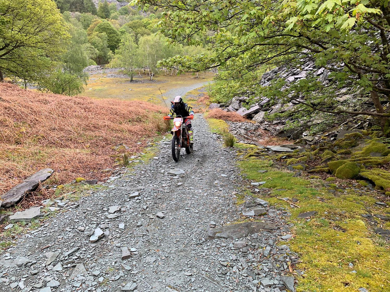 John McGuinness uphill climb