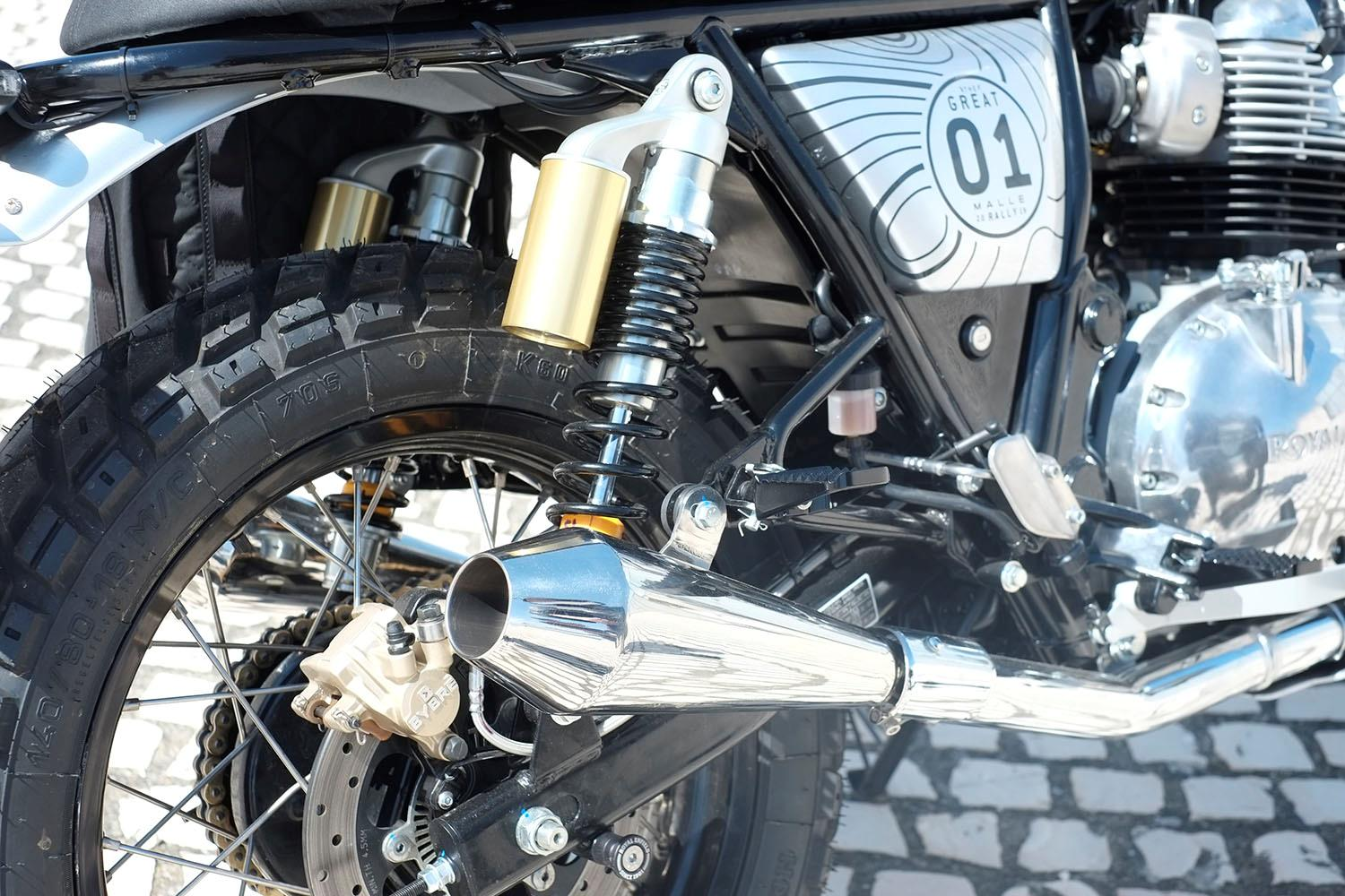 Royal Enfield Adventure exhaust