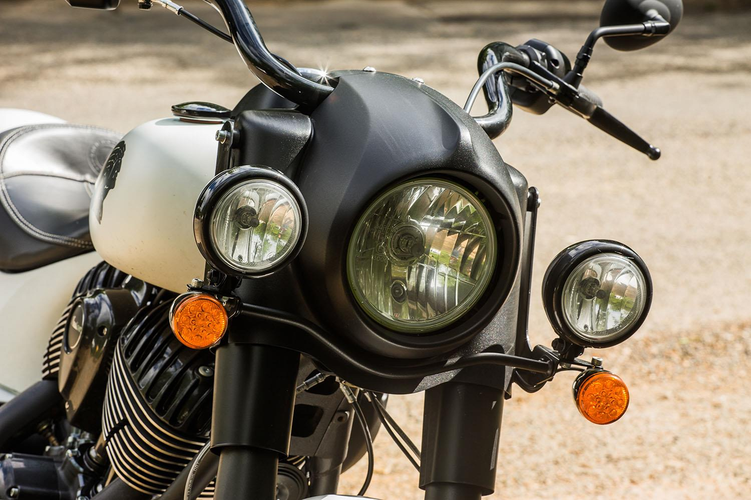 Indian Springfield Dark Horse headlight
