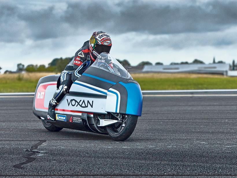 Max Biaggi rides the Voxan Wattman