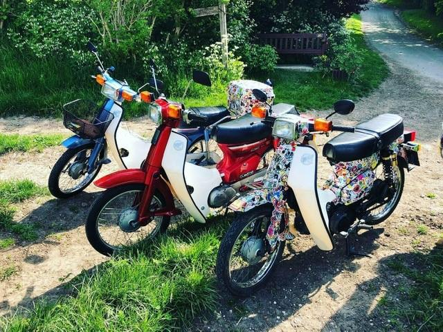 The Honda C90s for the ride