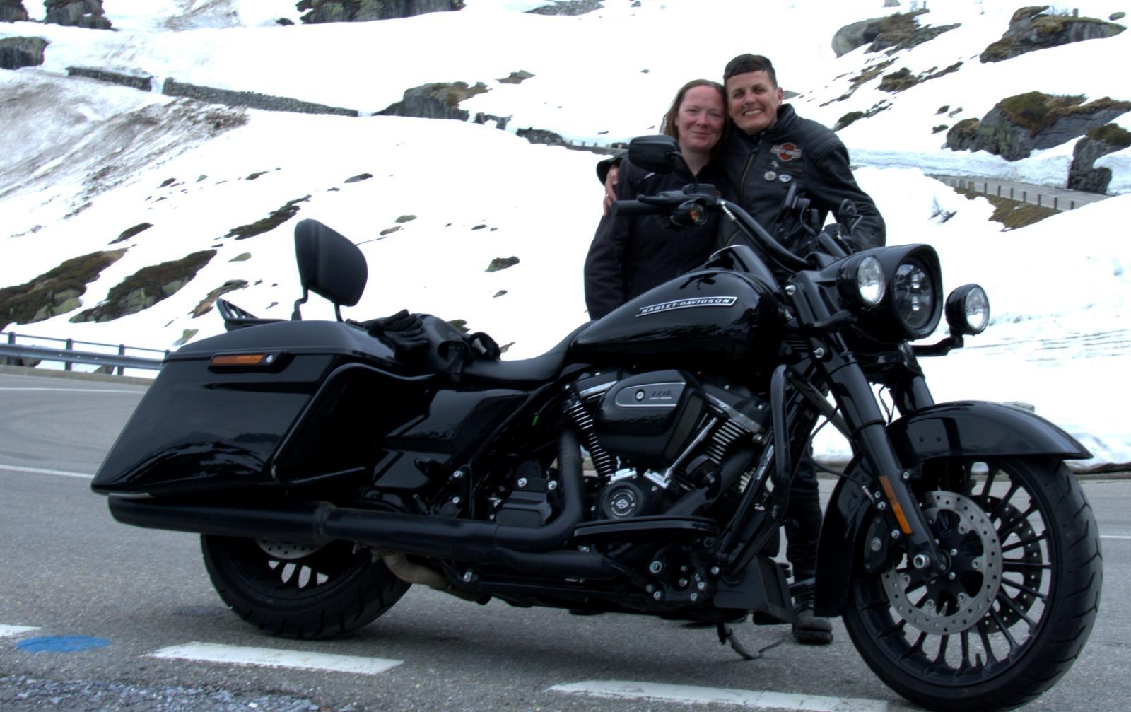 R5K members reach the alpine snow line on Harleys