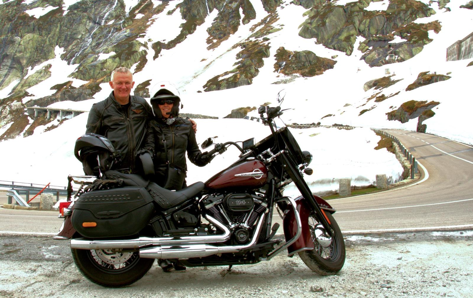 Touring on a Harley-Davidson