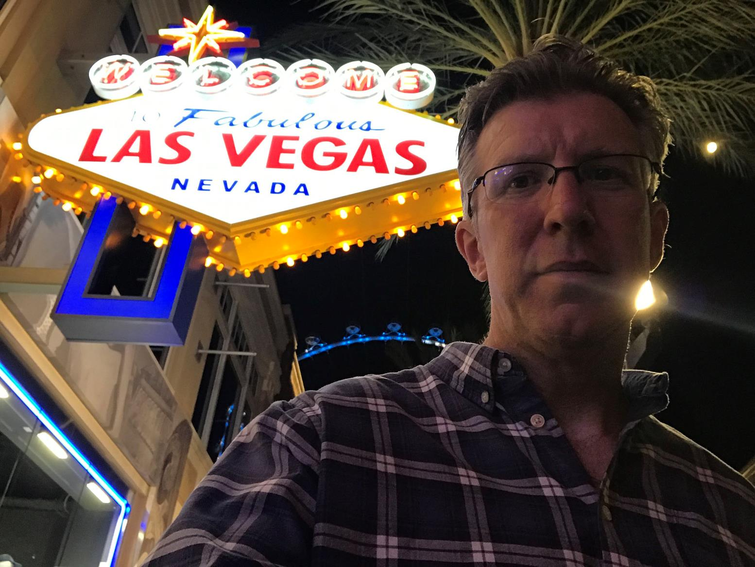 Selfie with Vegas sign