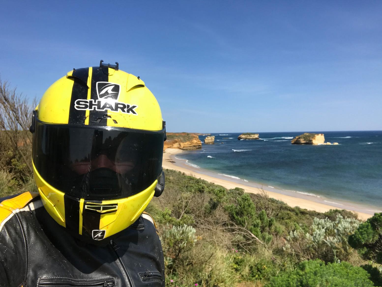 A selfie on the Great Ocean Road