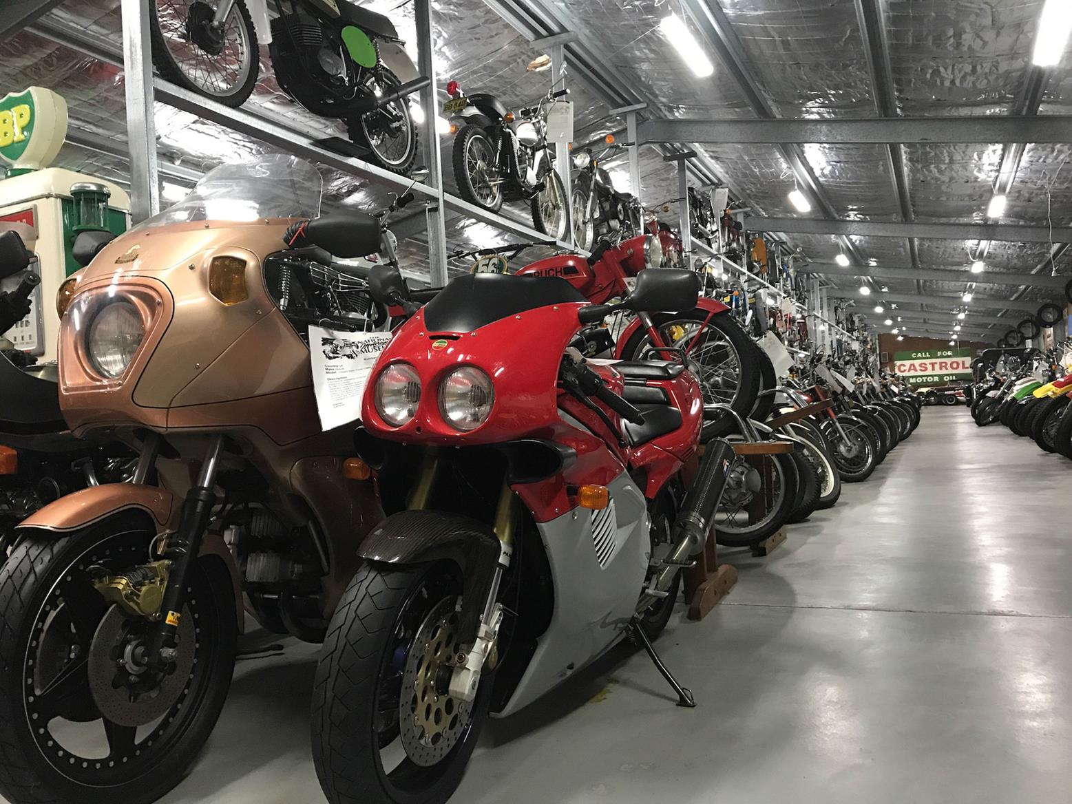 There were some beautiful bikes at the motorcycle museum Simon found in Australia
