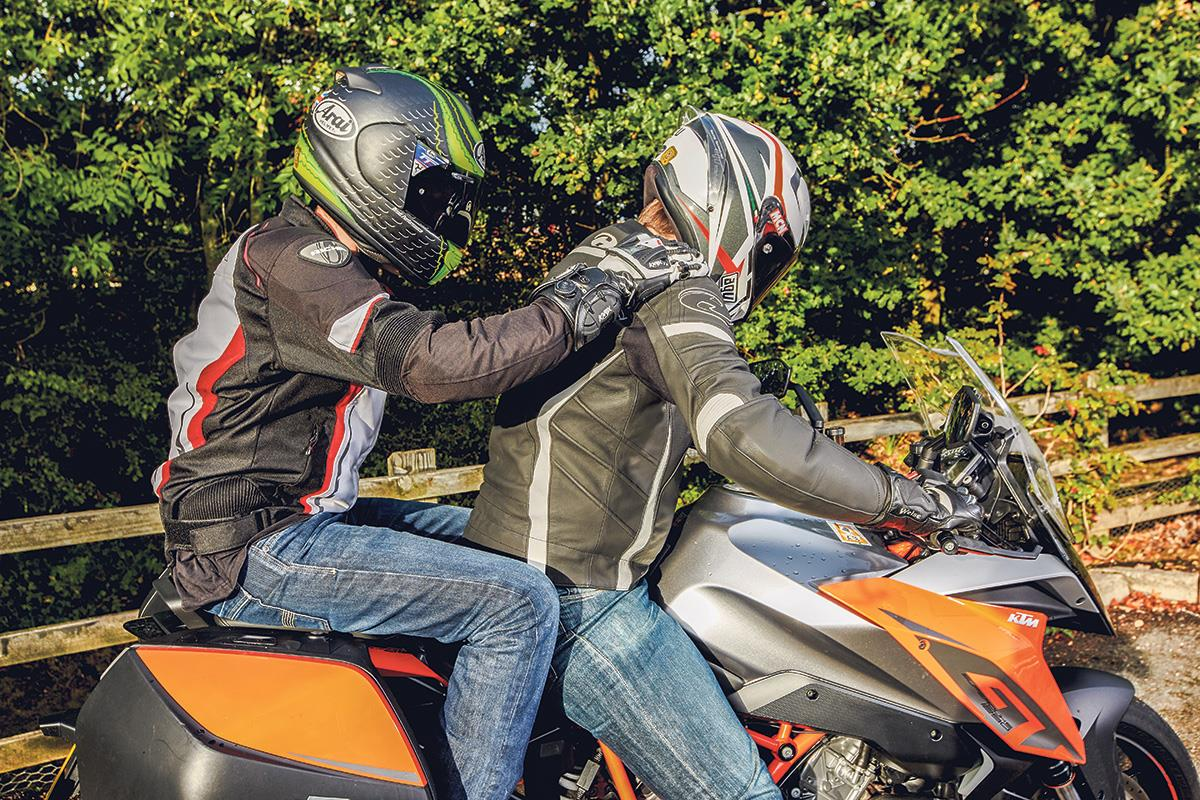 A rest and a chat will do wonders for your rider-pillion relationship