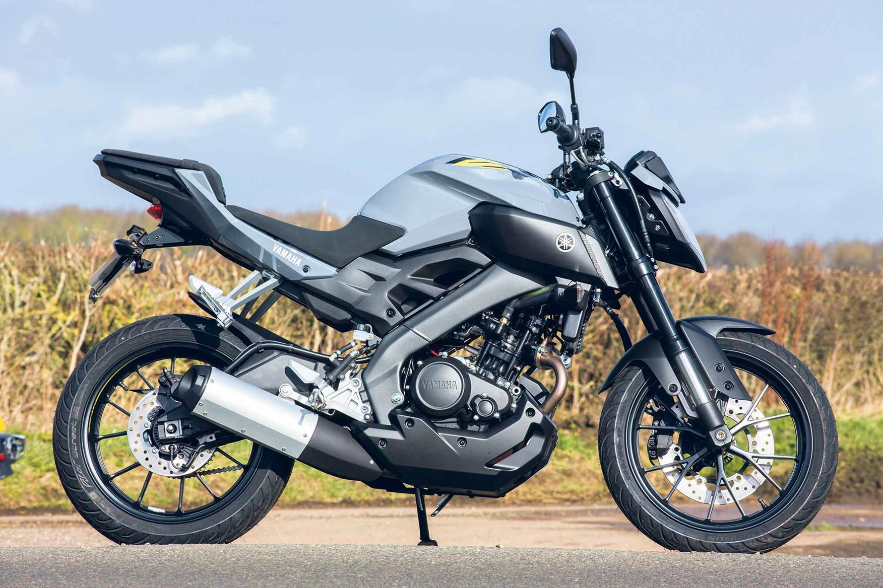 A side-on view of the Yamaha MT-125