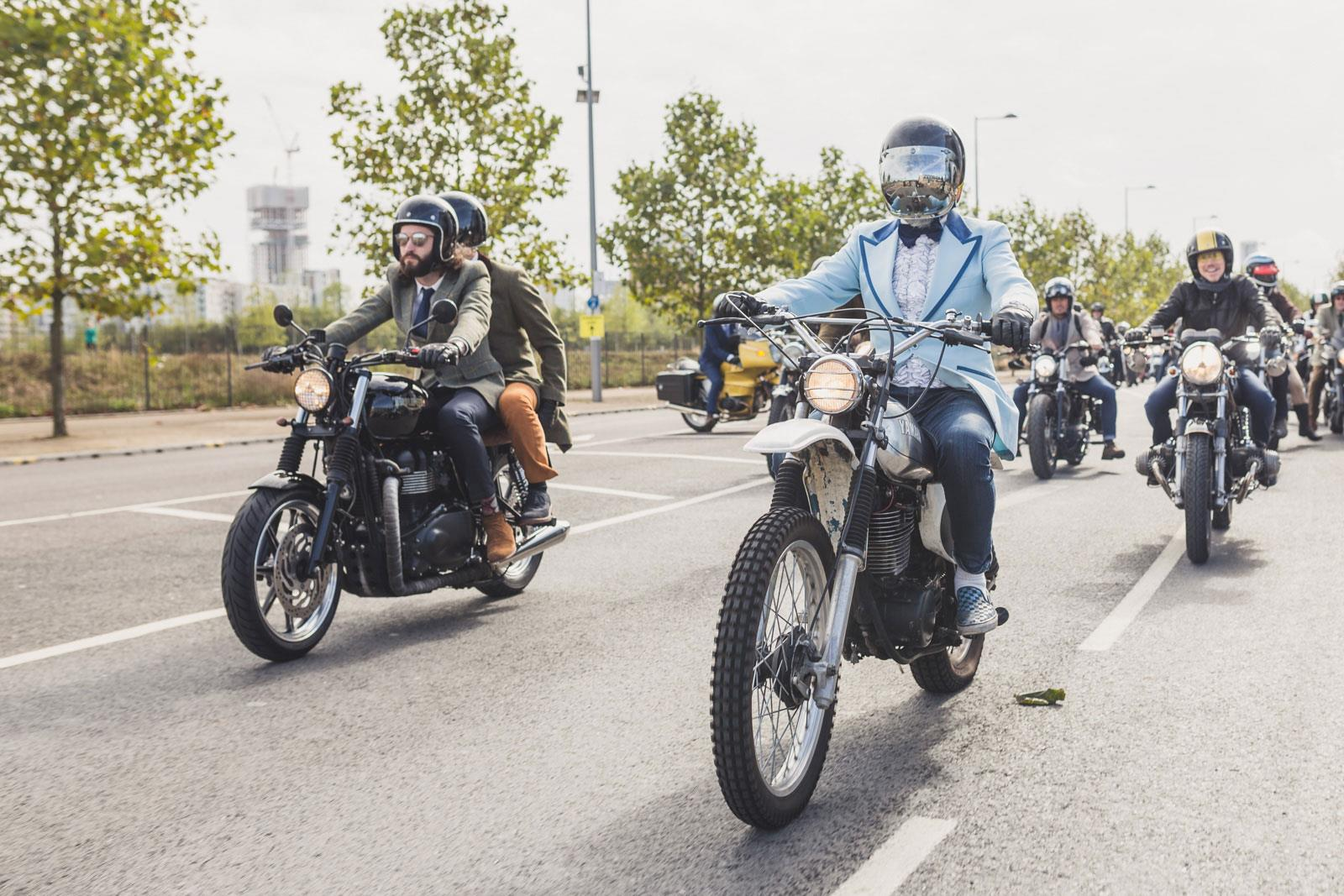 Distinguished Gentleman's Ride 2015 scrambler tuxedo