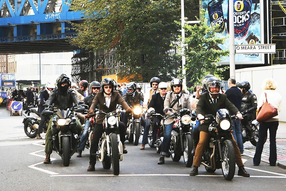 Distinguished Gentleman's Ride 2016 riders line up