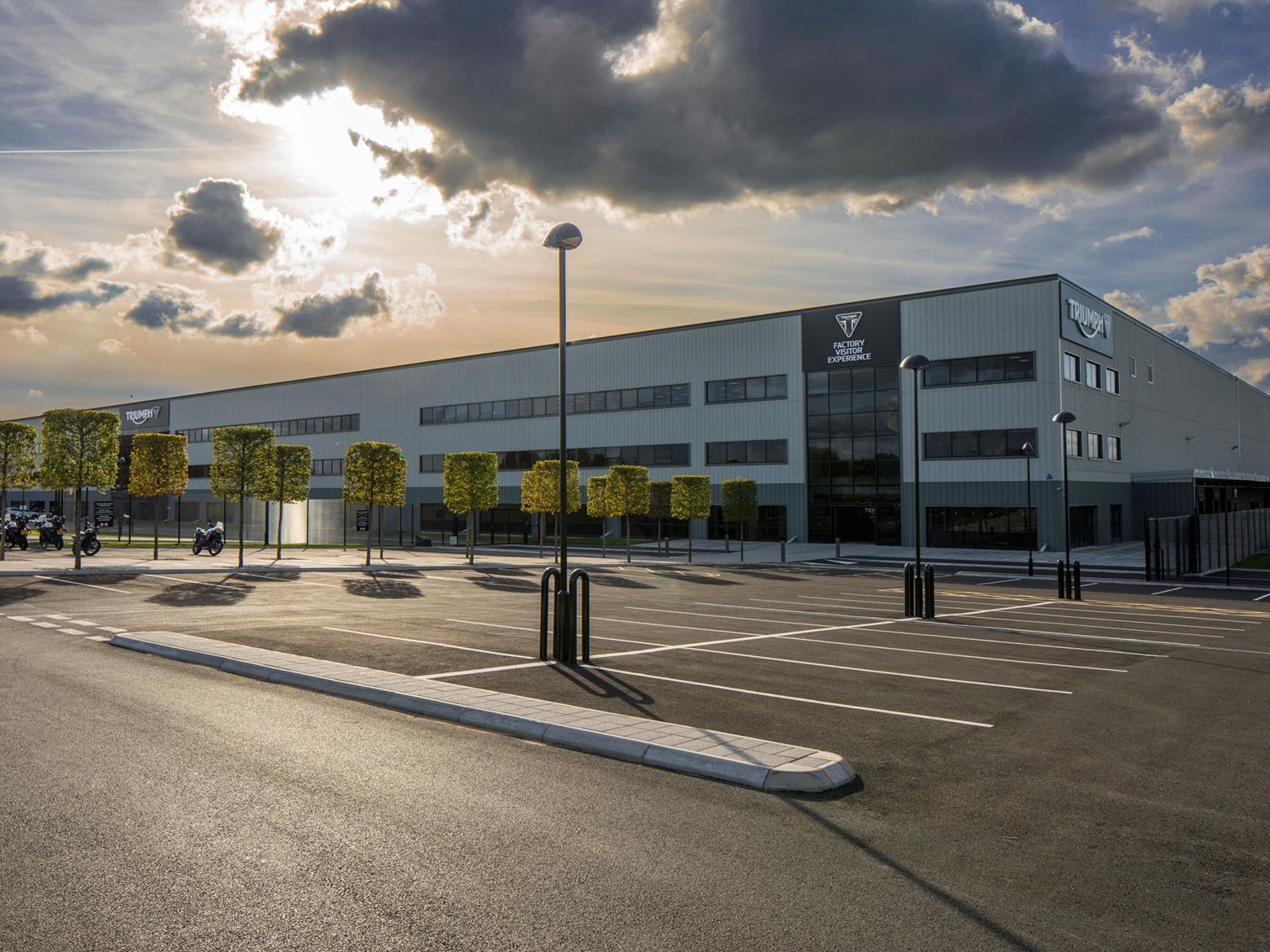 Triumph's factory in Hinckley