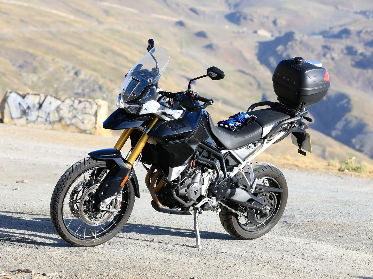 Triumph Tiger side profile in high quality