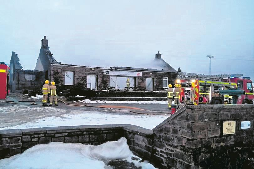 The former Hartside Cafe was destroyed by fire in 2018
