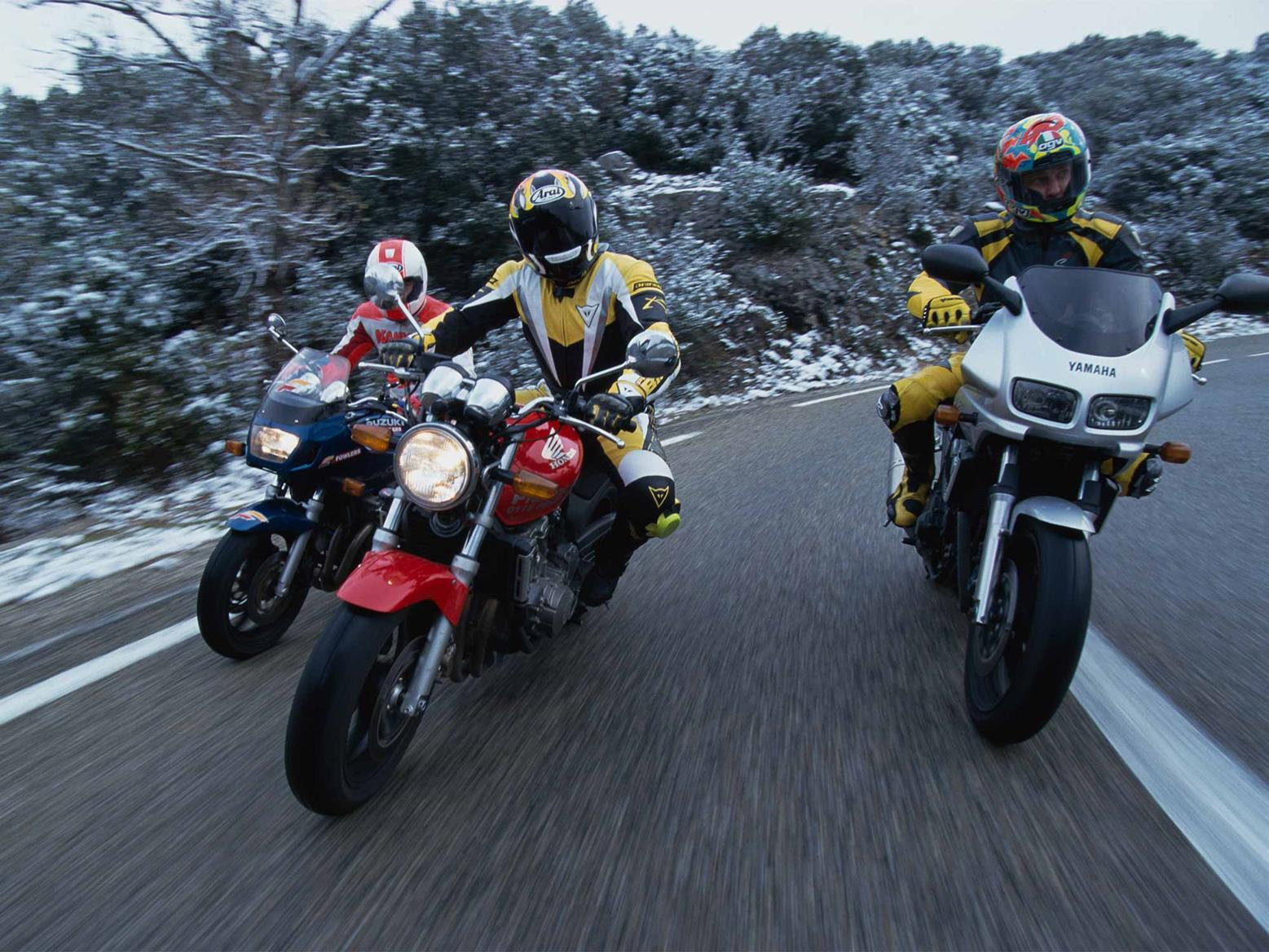 The Honda CB600F with Yamaha and Suzuki rivals