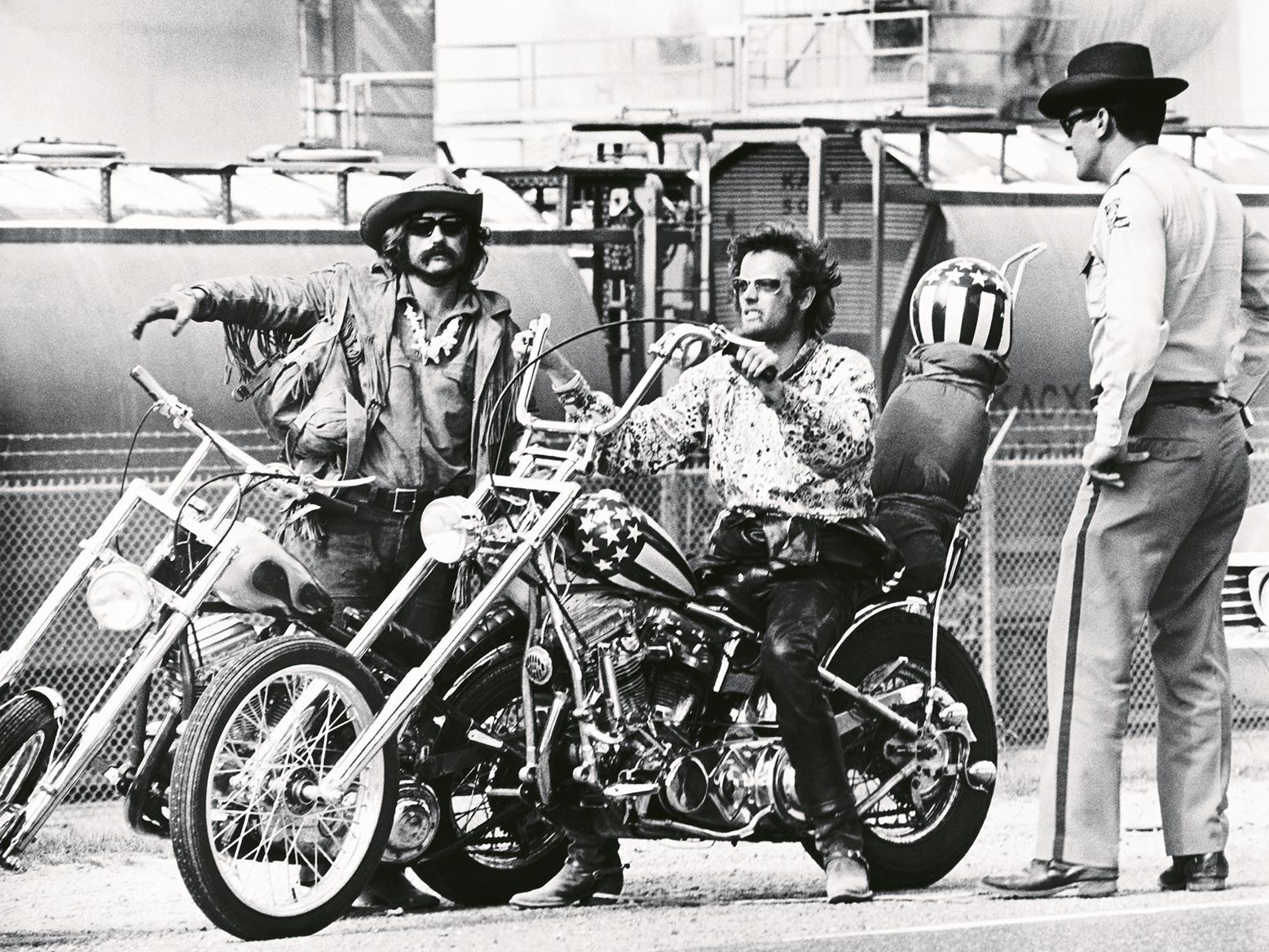 Hopper and Fonda on the set of Easy Rider