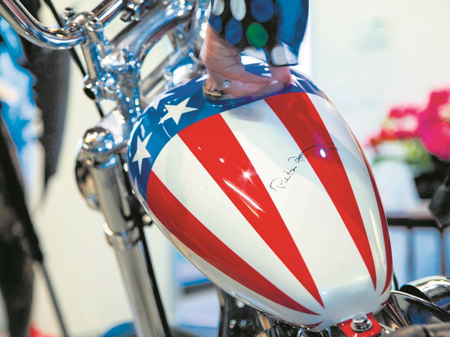 Captain America replica with Peter Fonda signature