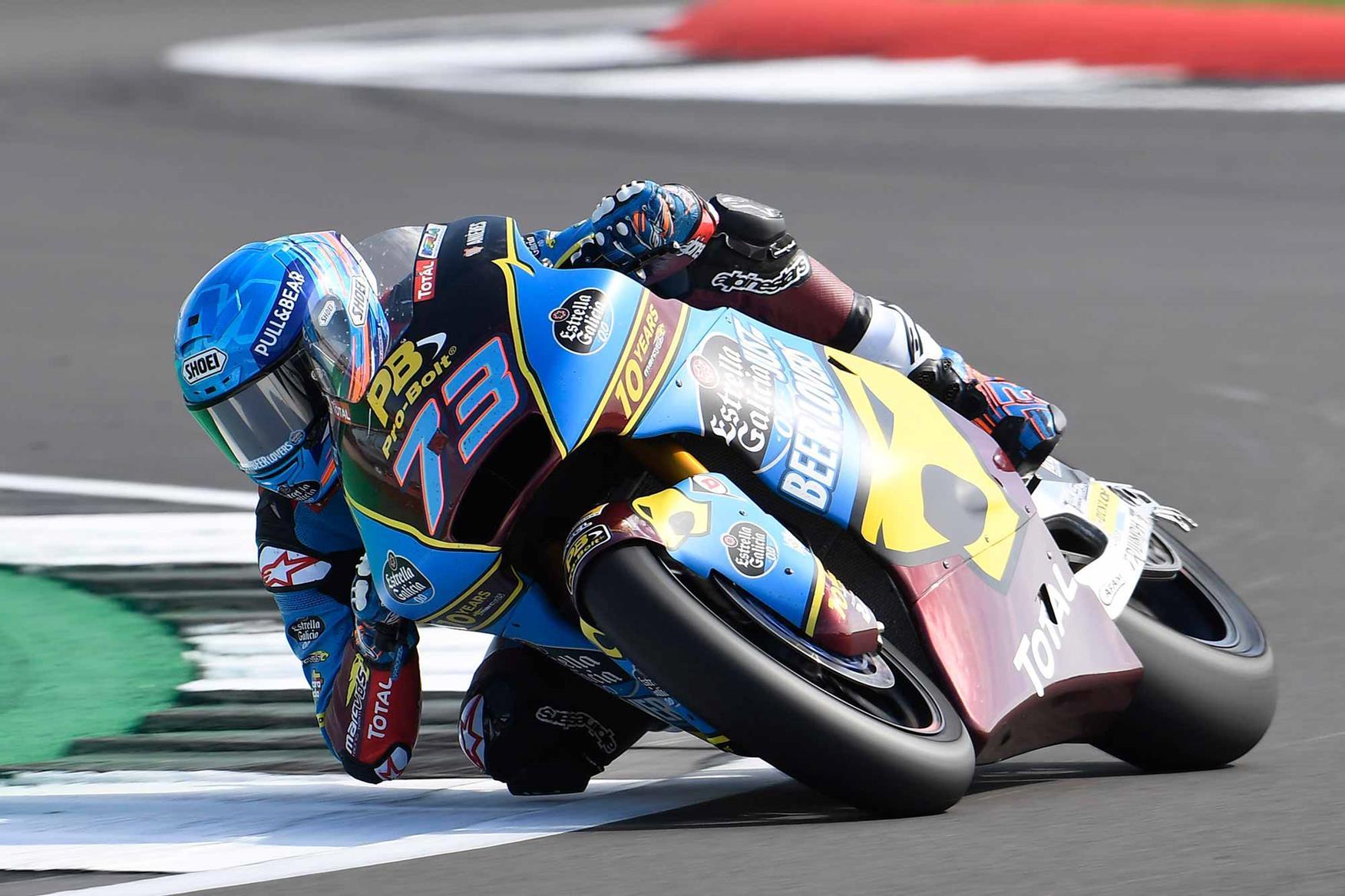 Alex Marquez claimed pole position