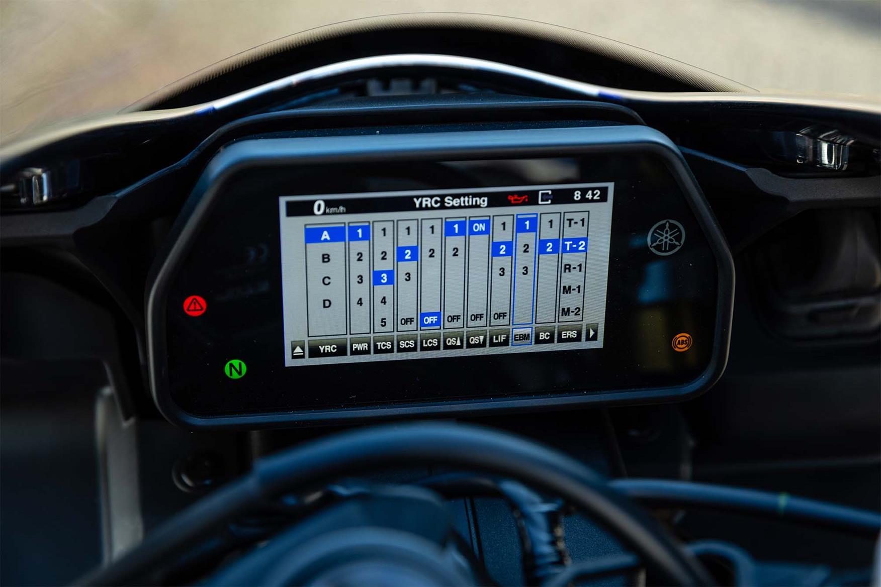 2020 Yamaha R1M clocks
