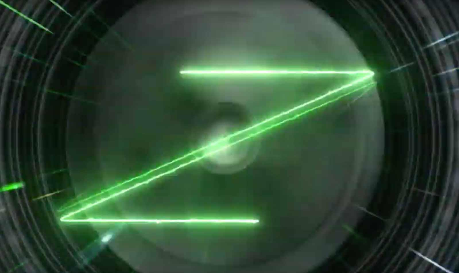 The first video shows the distinctive Kawasaki Z logo