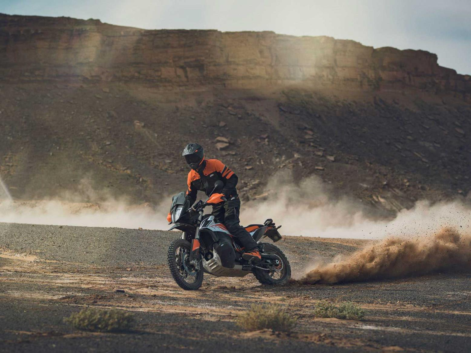 The KTM 790 Adventure offers the best of both worlds - it's great on and off road