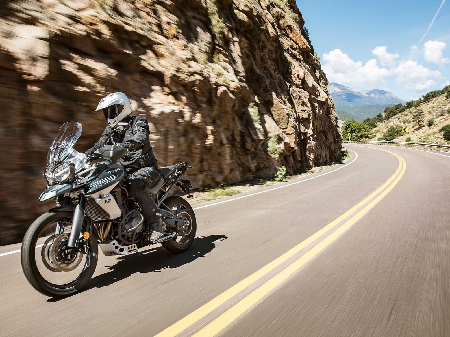 The Triumph Tiger 800 XCA can do it all