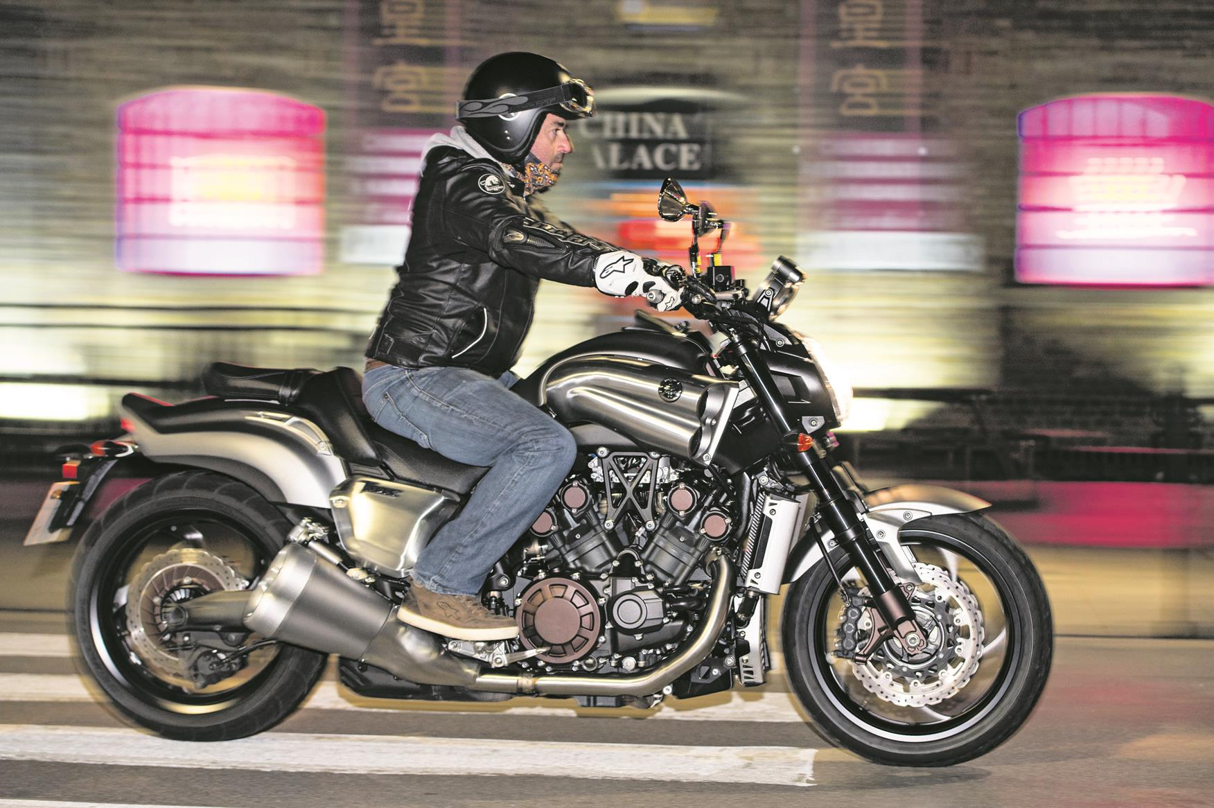 Riding the Yamaha VMAX at night