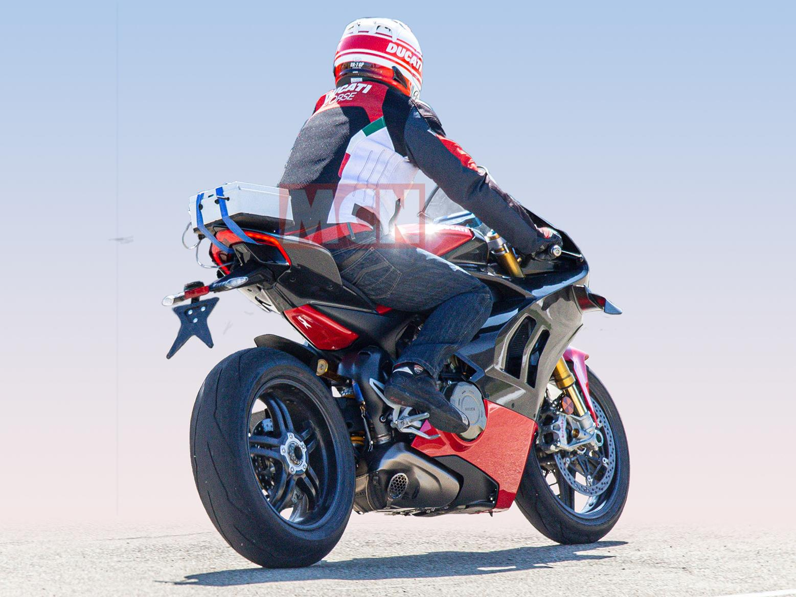 Rear view of 2020 Ducati Panigale V4 Superleggera