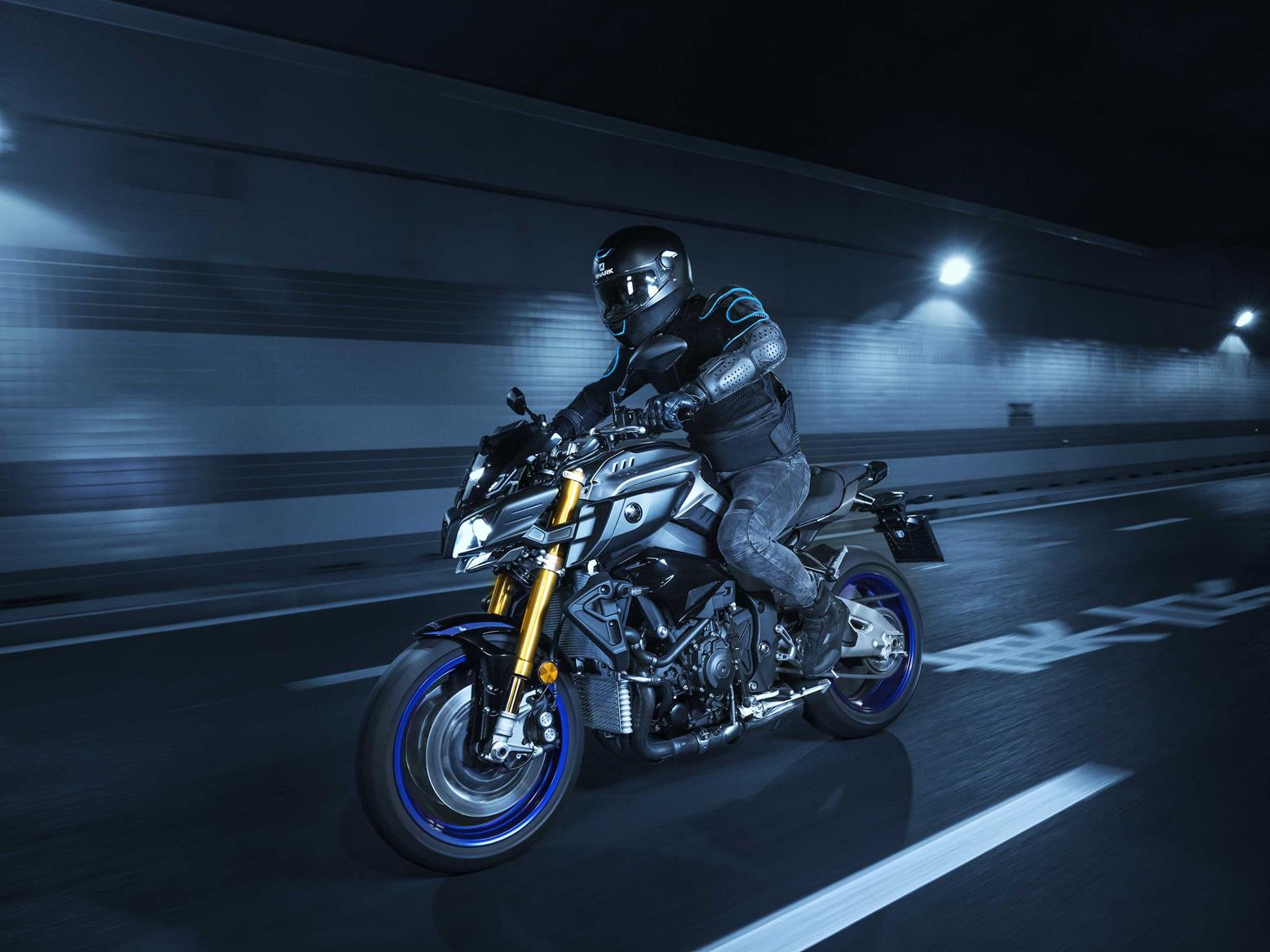 The Yamaha MT-10 is all action