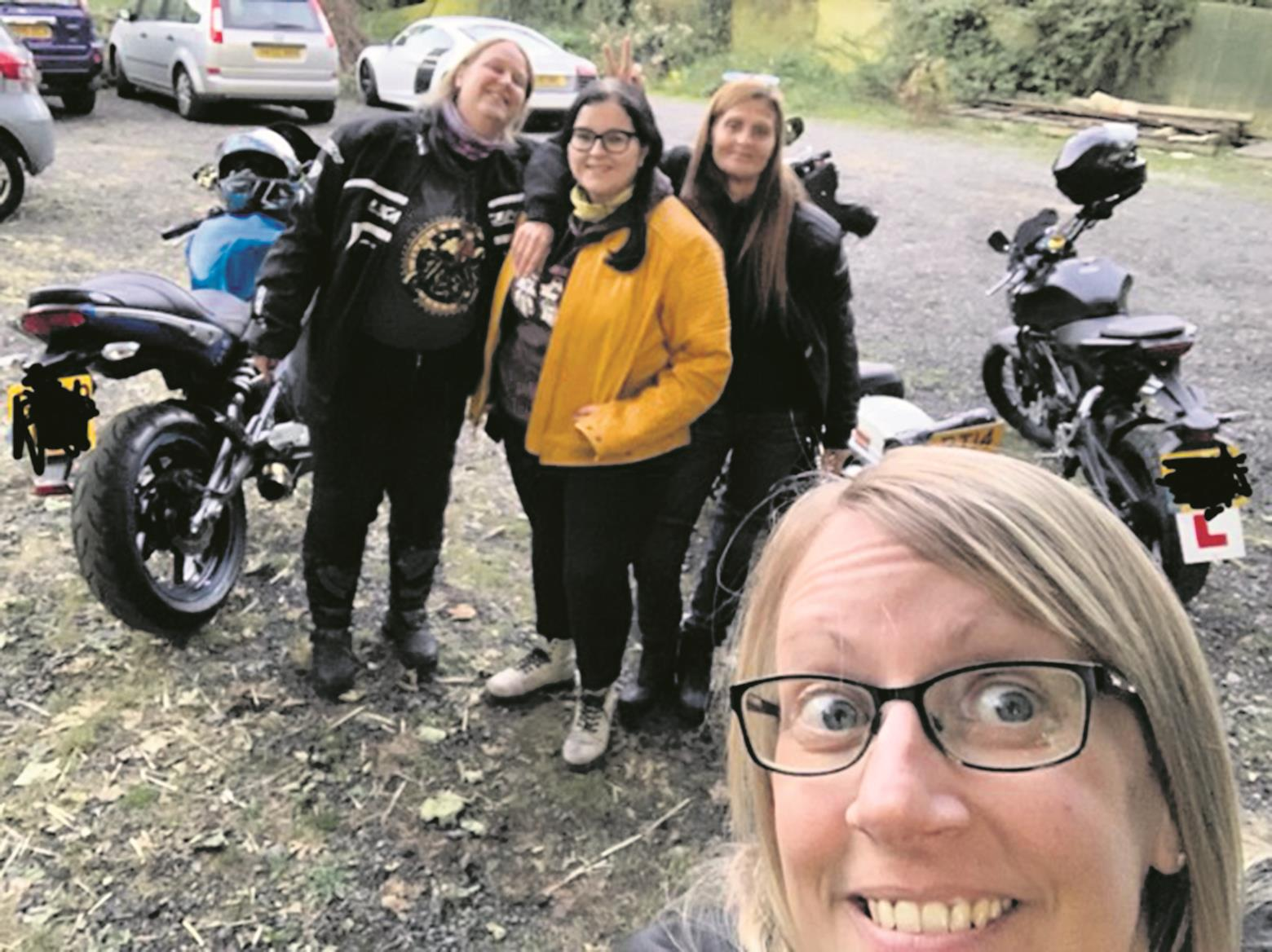 Angi Todd bags a selfie with some riding friends