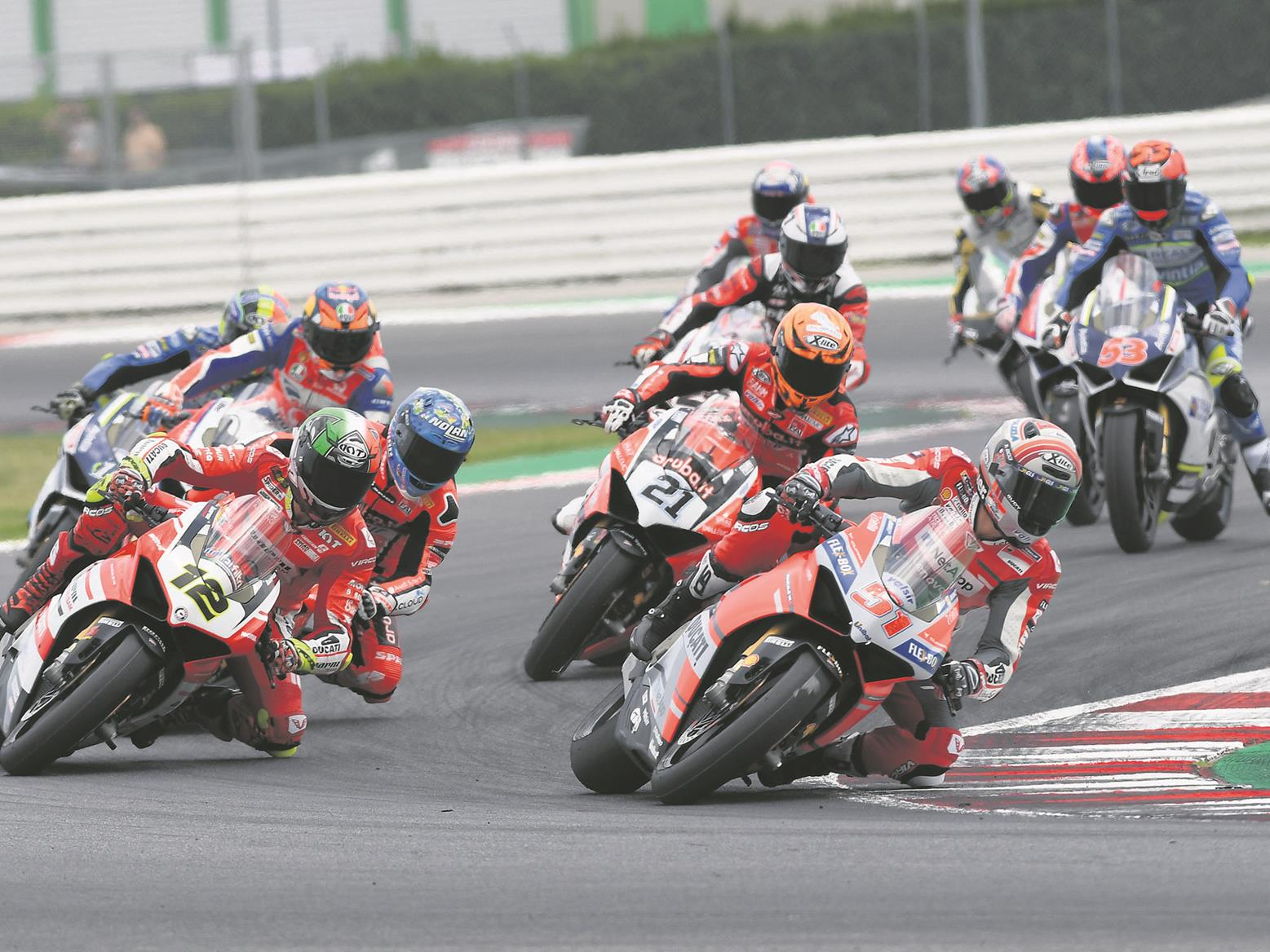 Racers turn aboard Ducati Panigale V4s