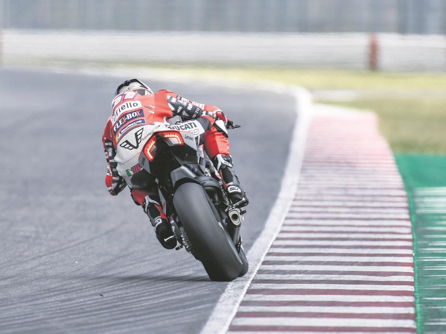 Pirro accelerates on the Panigale V4
