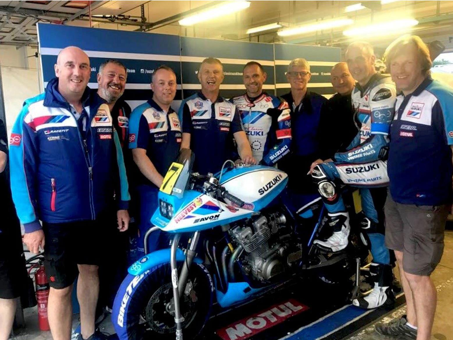 The dream team at Team Suzuki Classic with the Katana