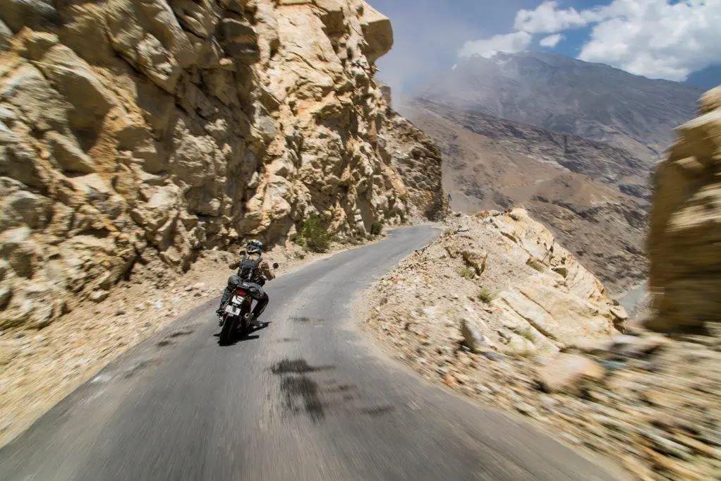 Riding through the Himalayas on a Royal Enfield Himalayan